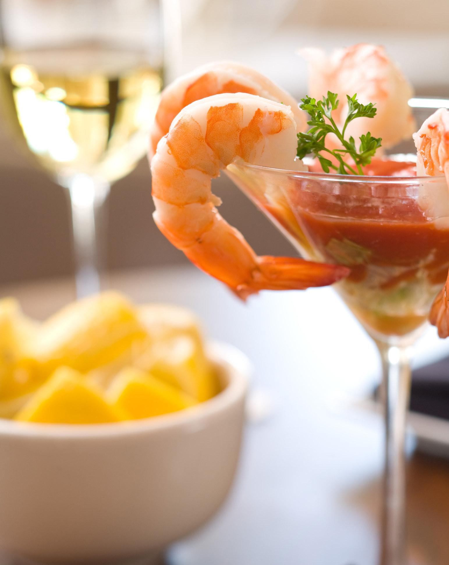 A shrimp cocktail
