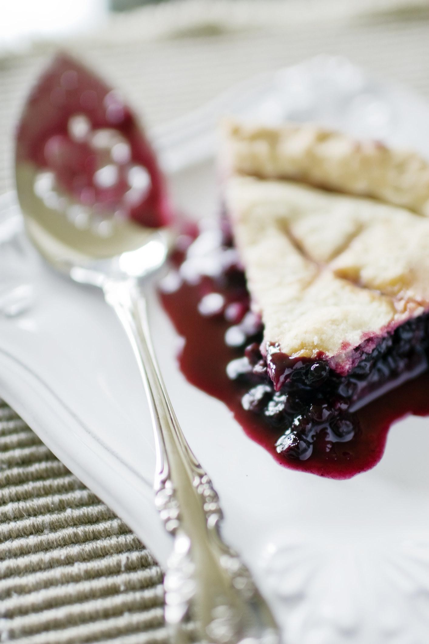 A slice of huckleberry pie.