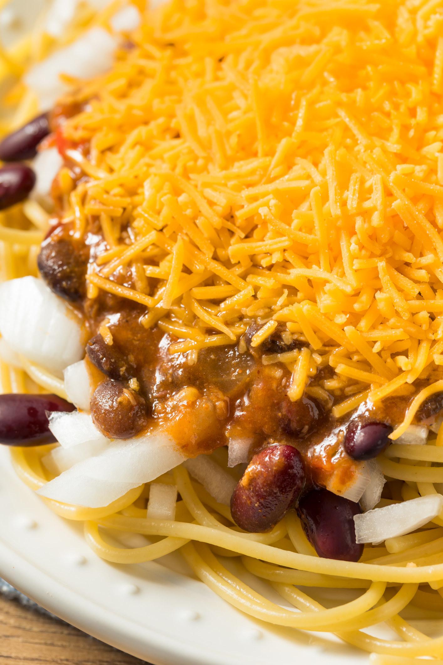 Cincinnati chili over spaghetti.