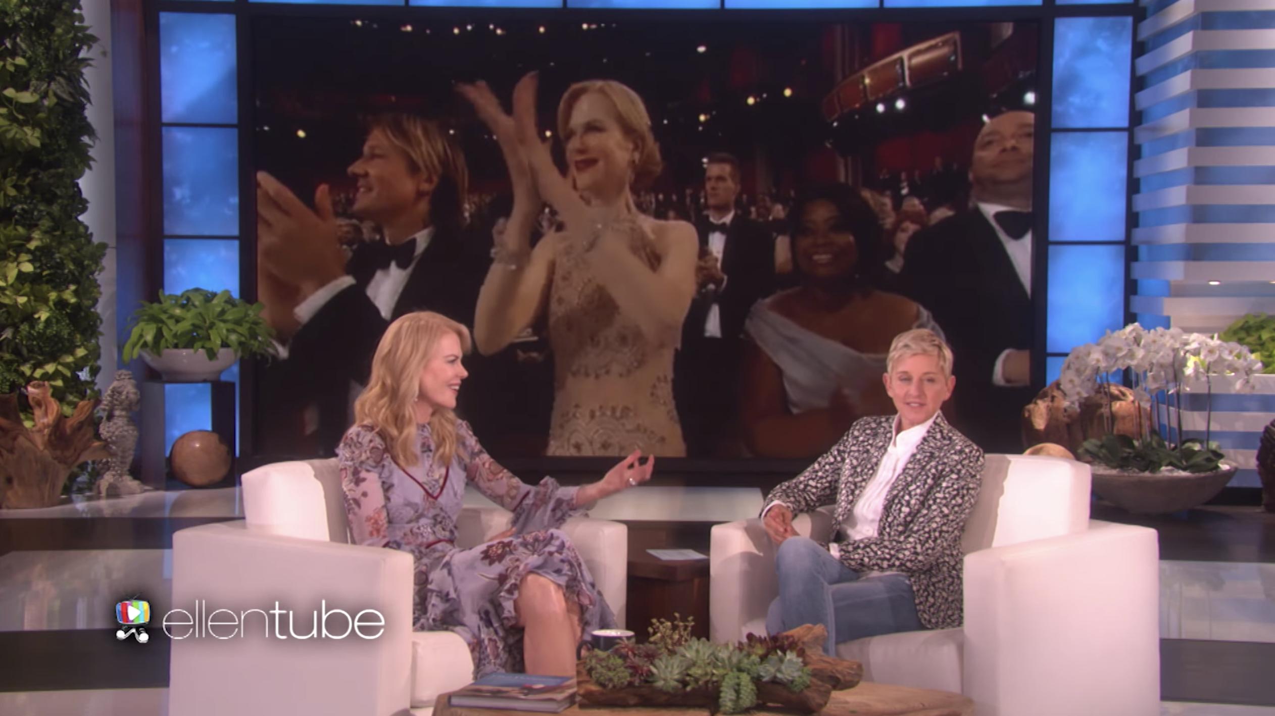 Nicole Kidman appearing on The Ellen Show