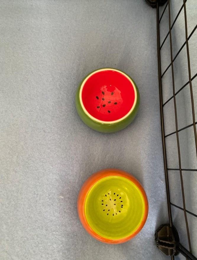 Both of the decorative ceramic bowls