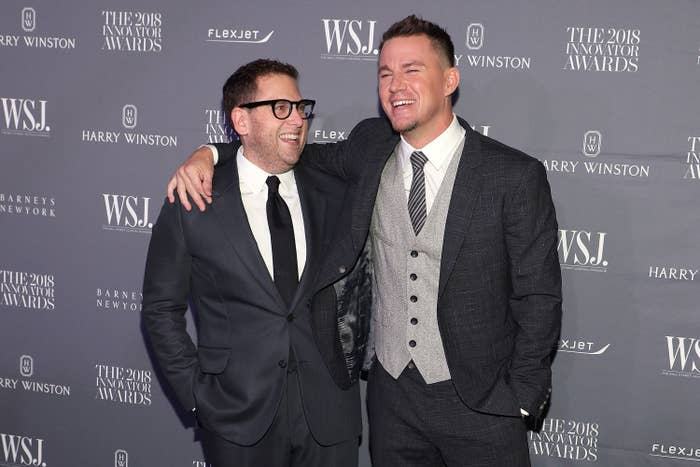 Jonah Hill and Channing Tatum on the red carpet
