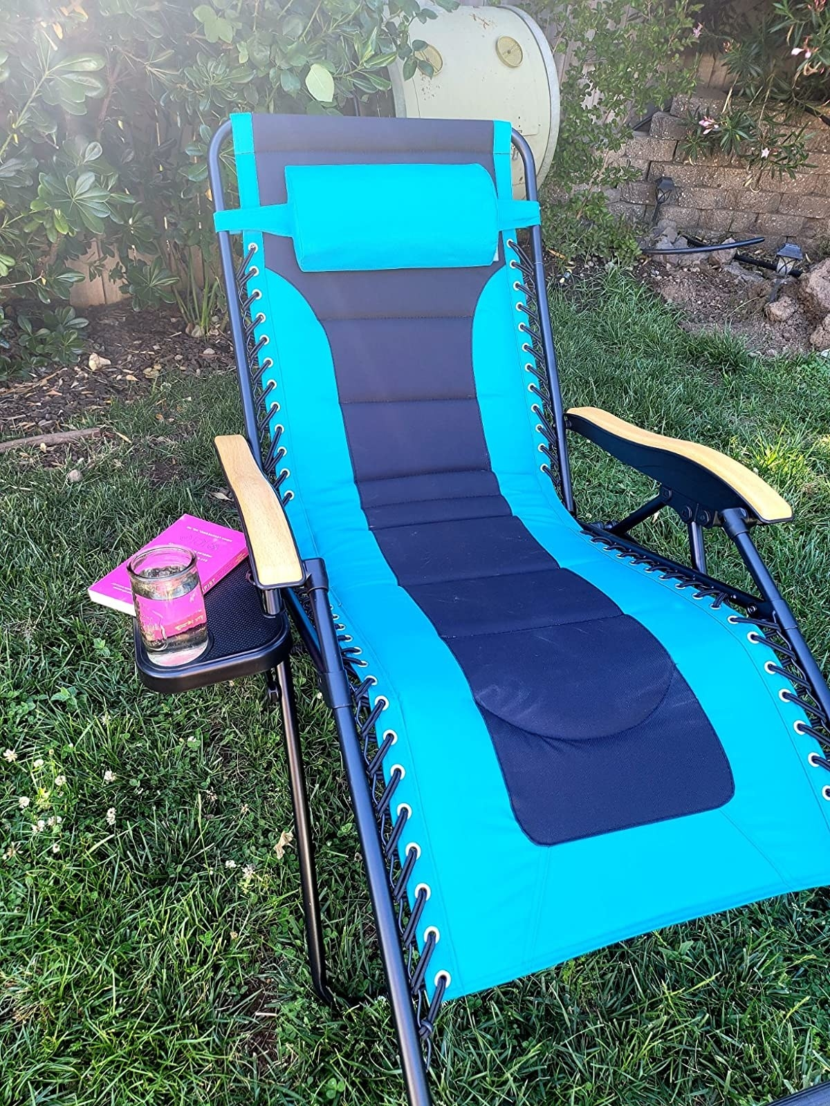Reviewer photo of their blue chair