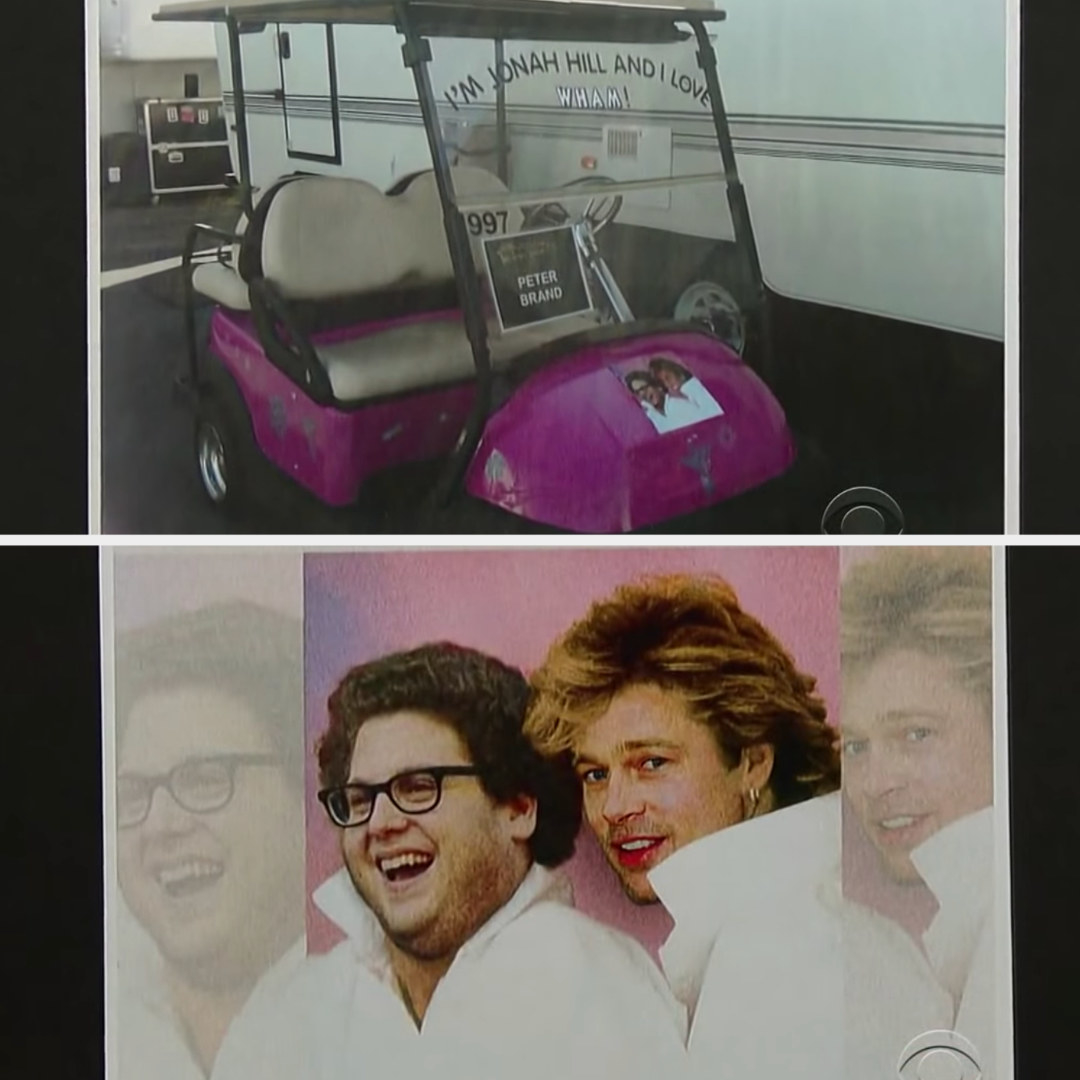 Jonah Hill's bright pink Wham! mobile