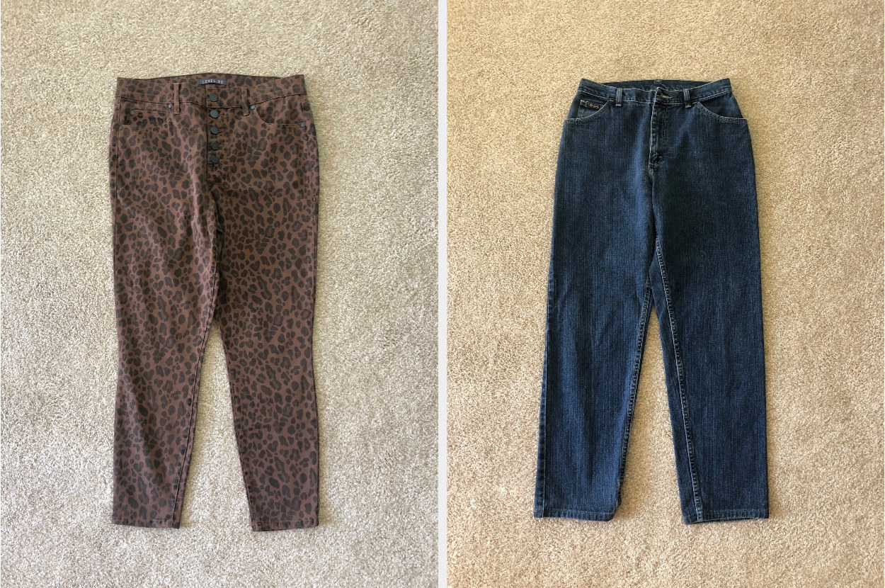animal print pants and jeans