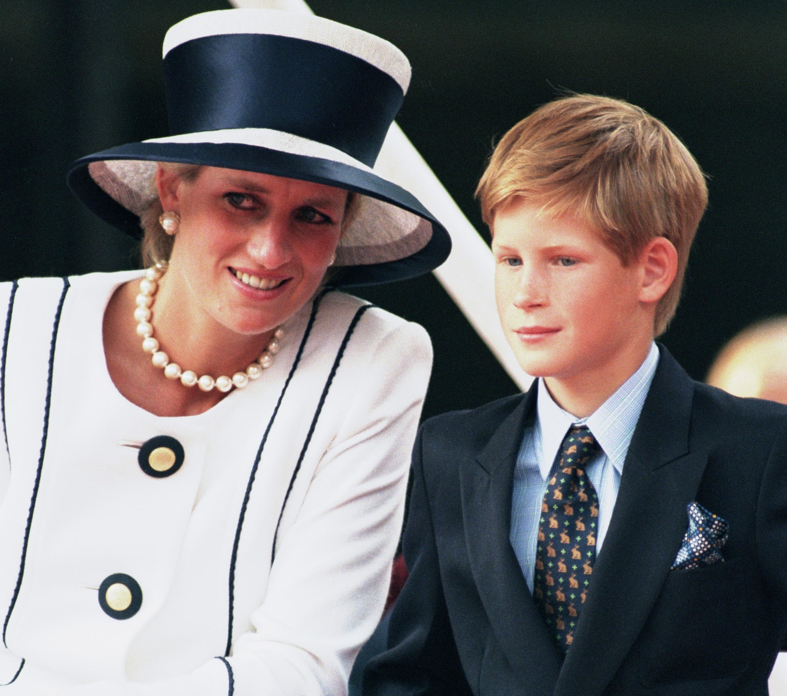 A young Harry with his mother, Princess Diana