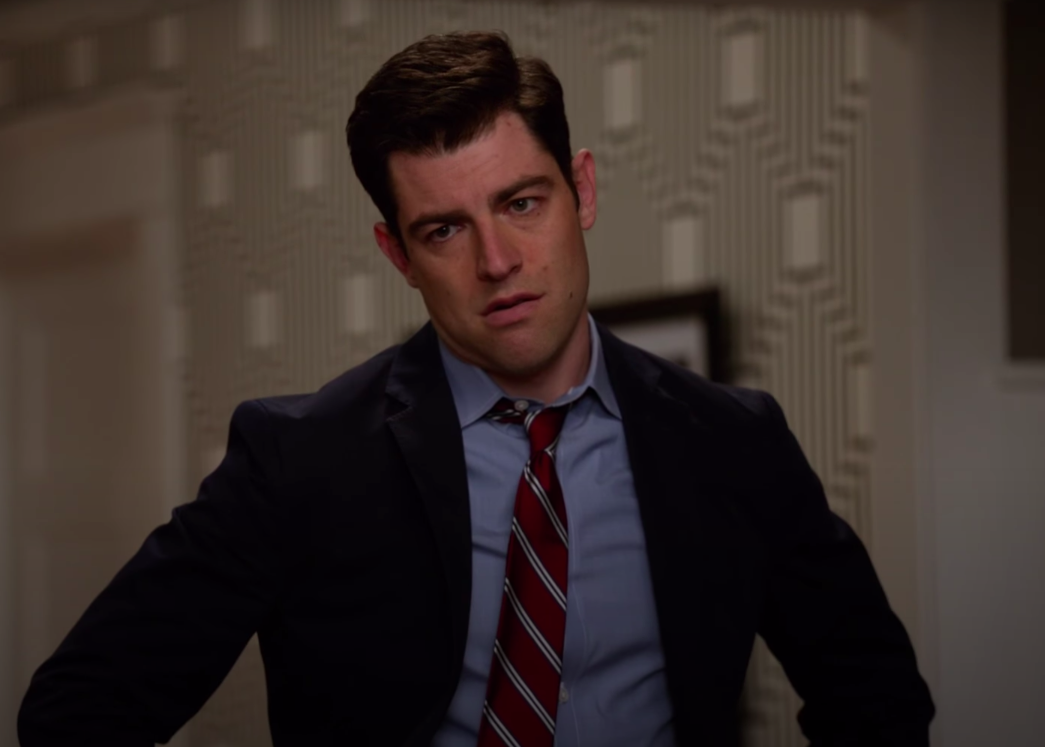 """Schmidt from """"New Girl"""" looking annoyed"""