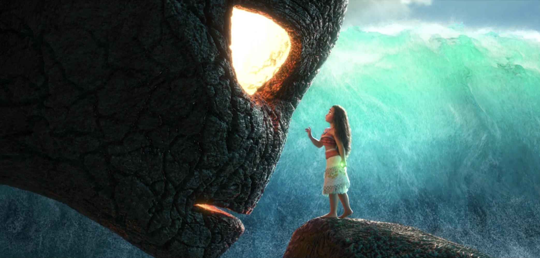 Moana reaching out to Te Kā
