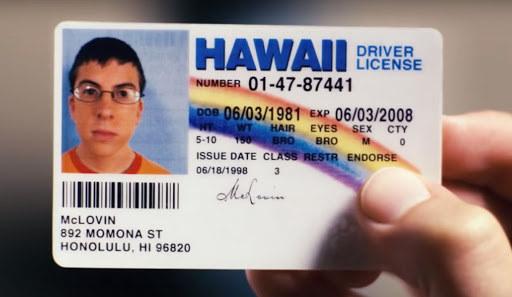 McLovin's drivers license