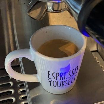 Espresso shot in