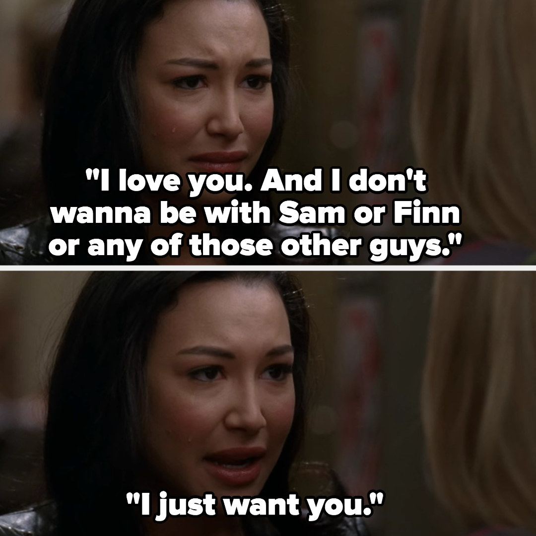 Santana tells Brittany she loves her and wants to be with her