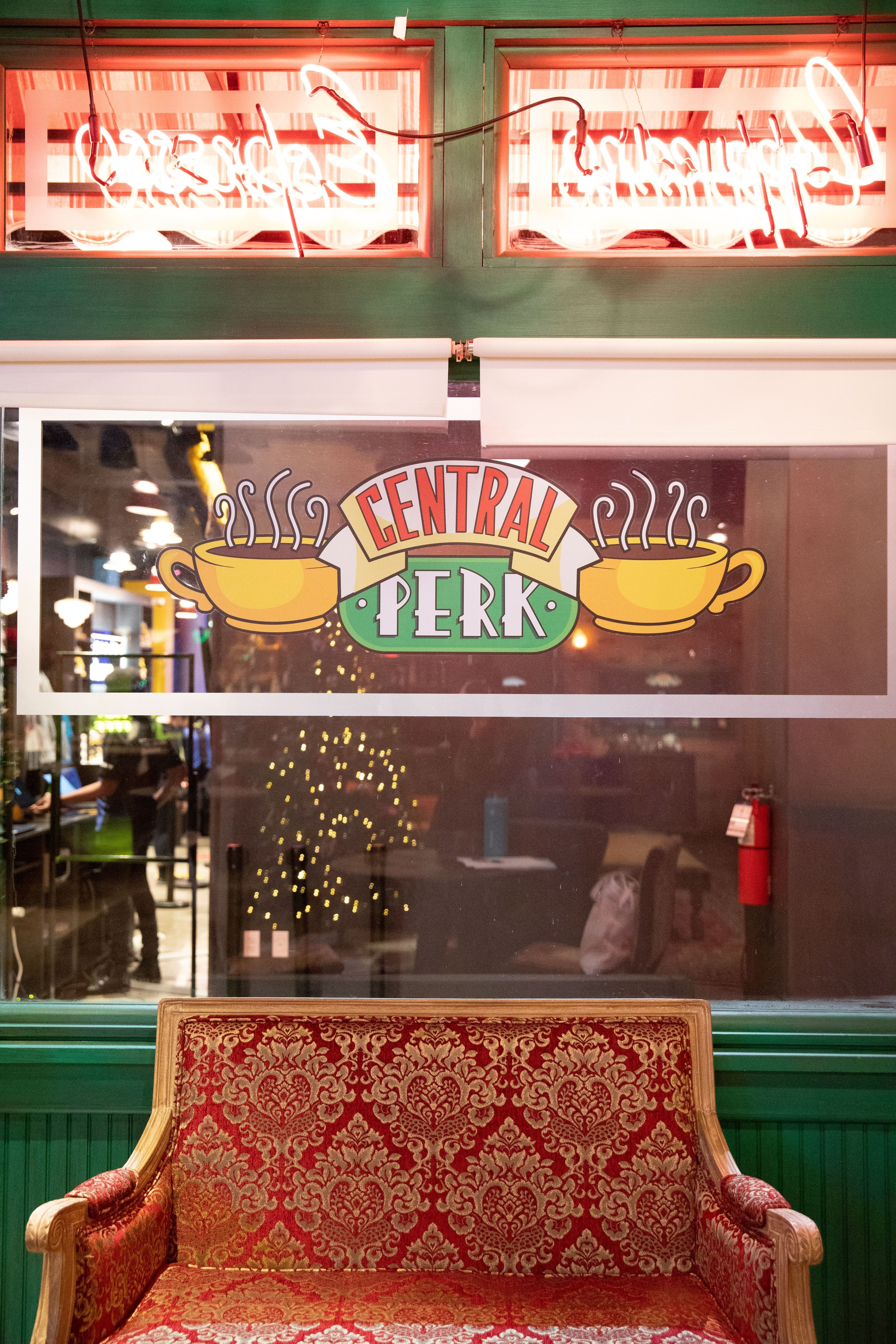 the Central Perk sign