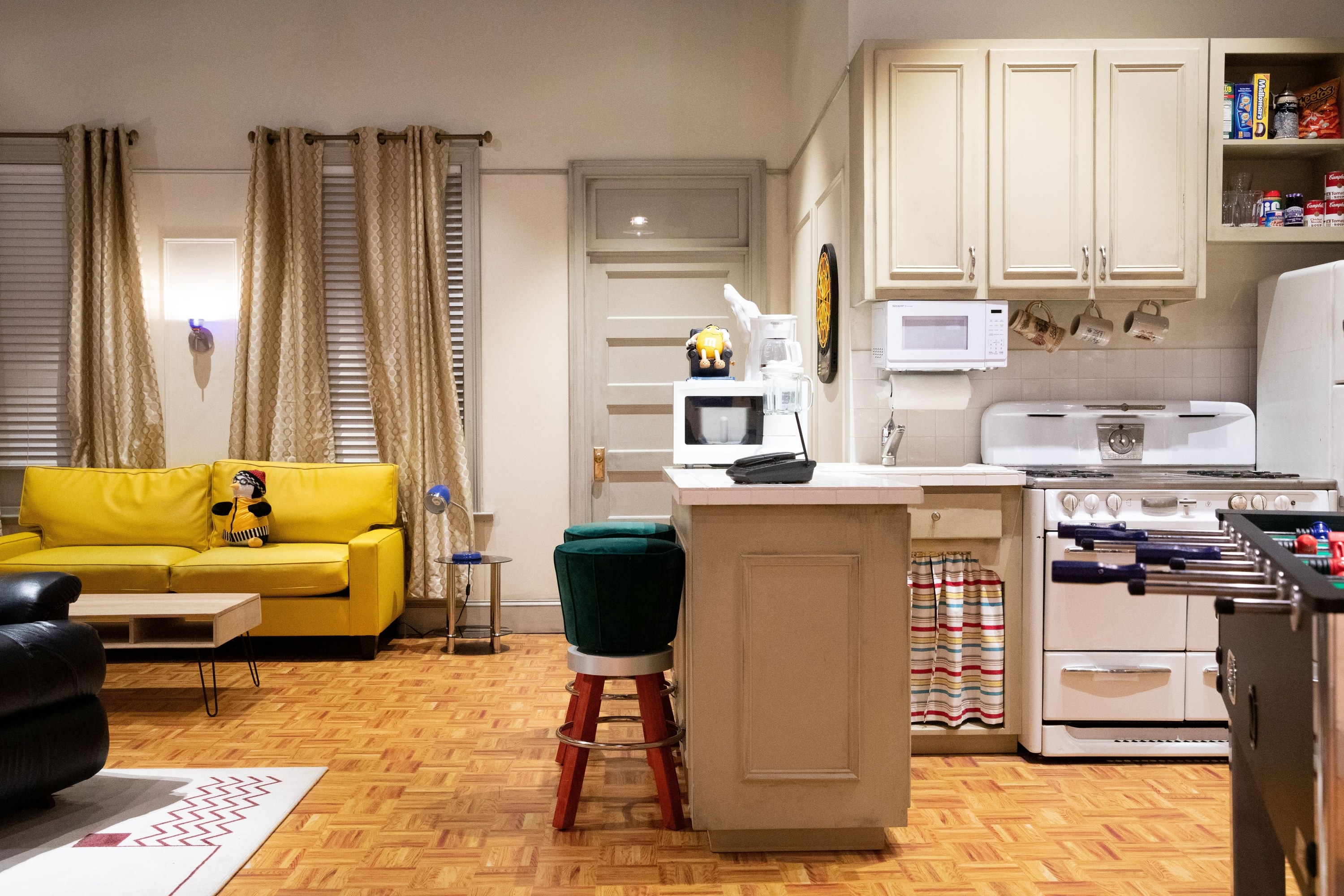 the kitchen set from the Friends TV show