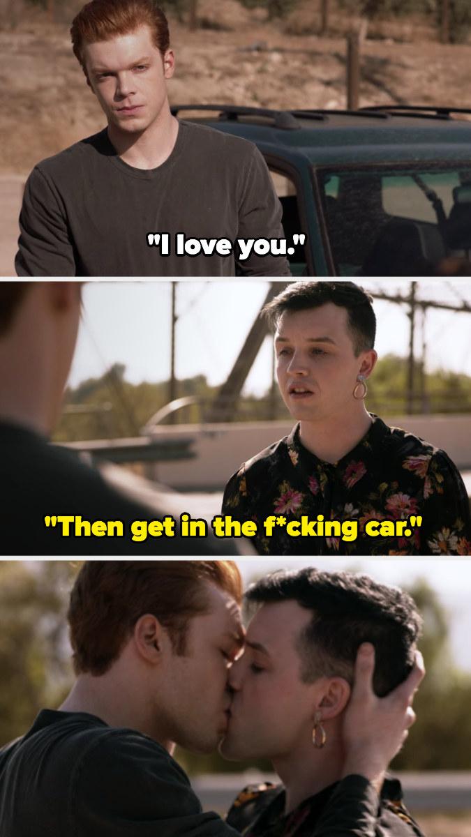 Ian and Mickey share one last kiss at the border