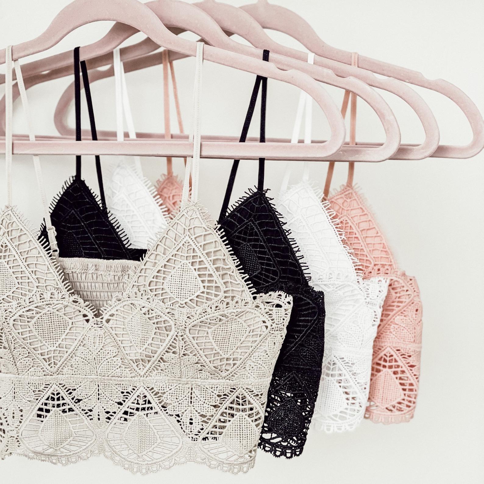 longline lace bralettes