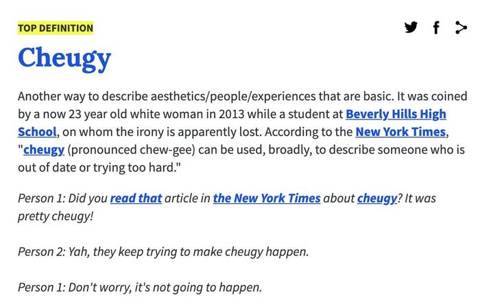 A screenshot of the Urban Dictionary definition