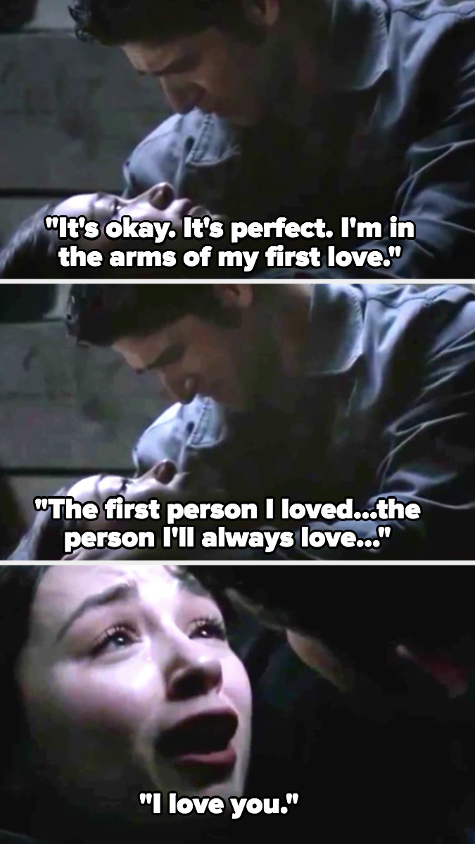 Allison dies in Scott's arms and says she loves him