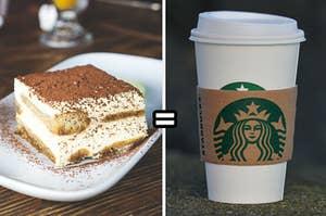 Tiramisu equals Starbucks