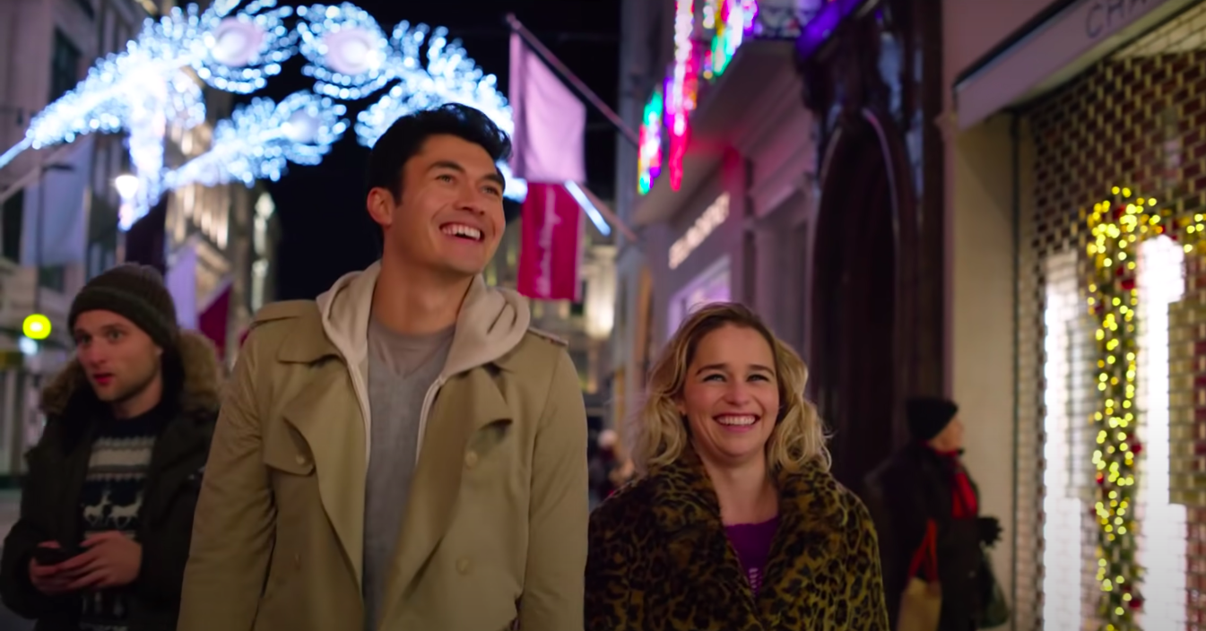 """Tom and Kate grinning in """"Last Christmas"""""""