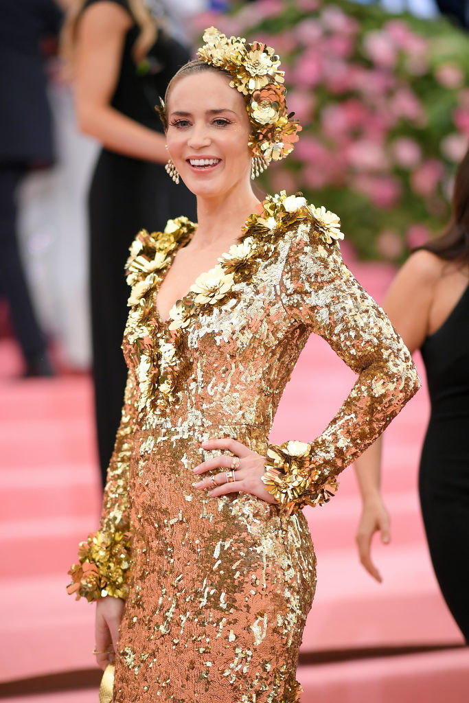 Emily Blunt attends The 2019 Met Gala Celebrating Camp: Notes on Fashion