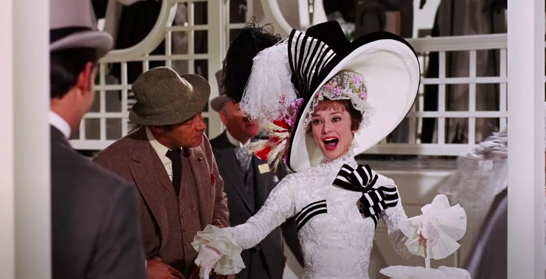 """Eliza Doolittle talking in """"My Fair Lady"""""""