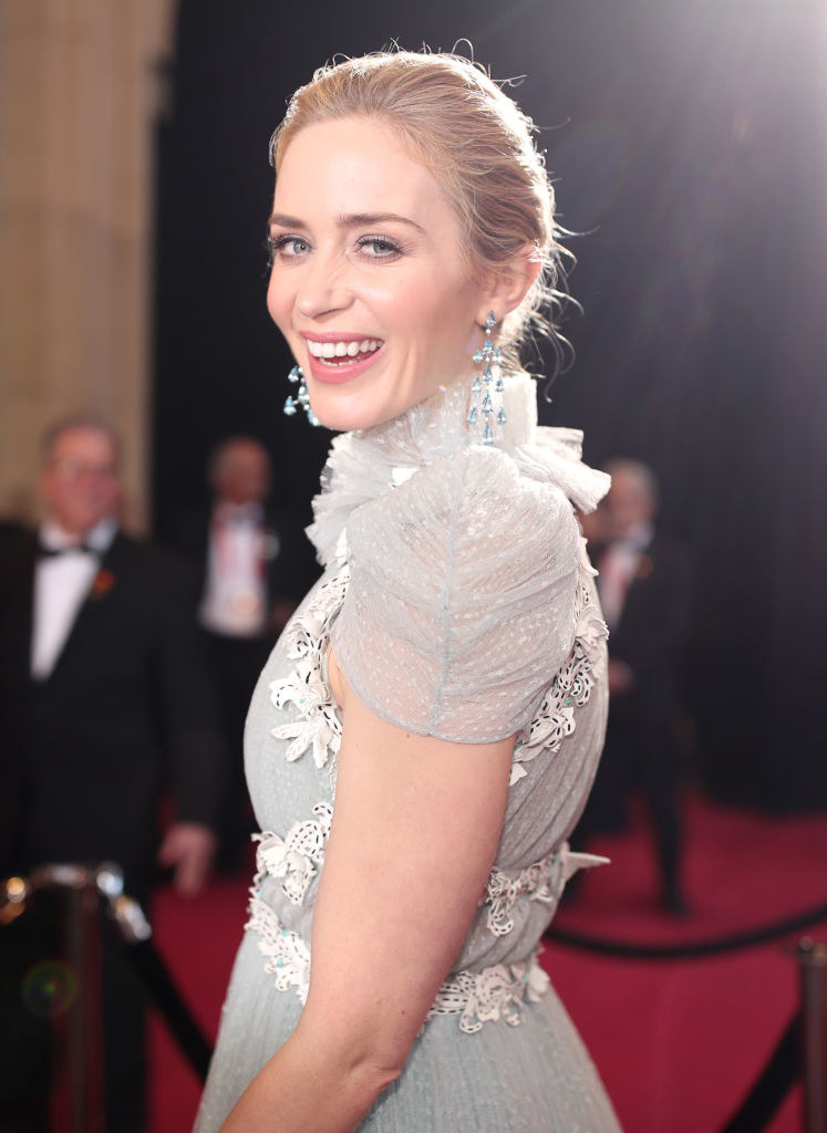Emily Blunt attends the 90th Annual Academy Awards