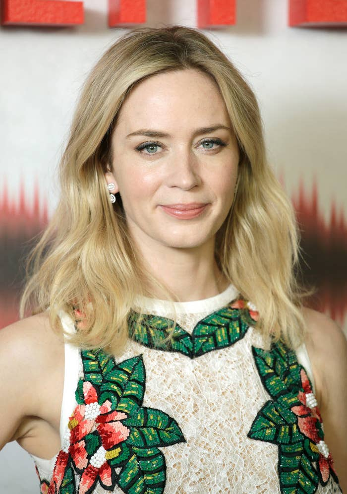 """Emily Blunt attends """"A Quiet Place"""" screening at the Curzon Soho"""