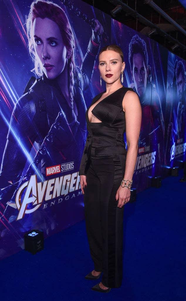 """Scarlett Johansson attends the UK Fan Event to celebrate the release of Marvel Studios' """"Avengers: Endgame"""""""