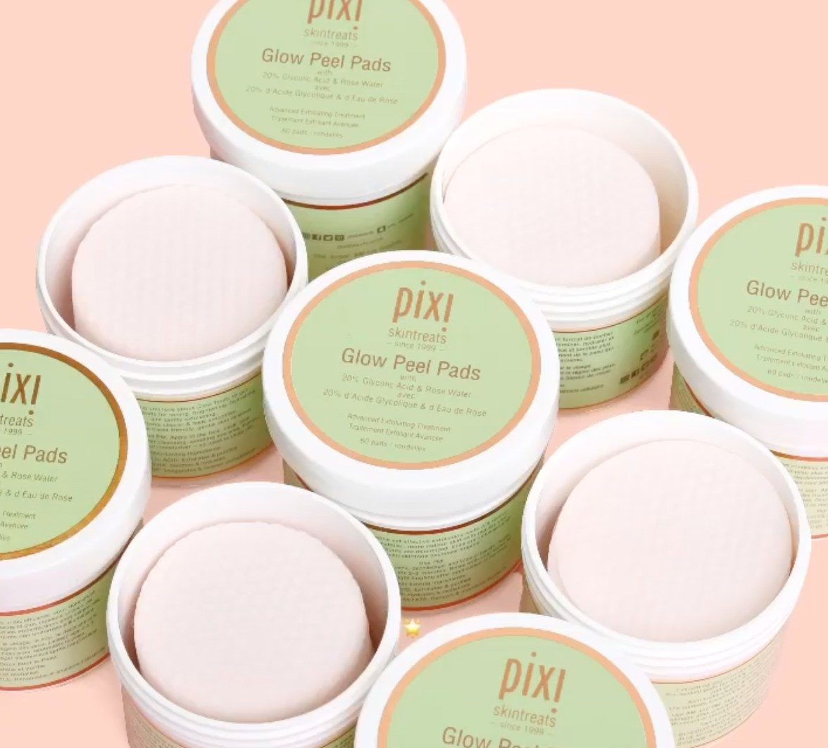 Glow Peel Pads, some open, some closed
