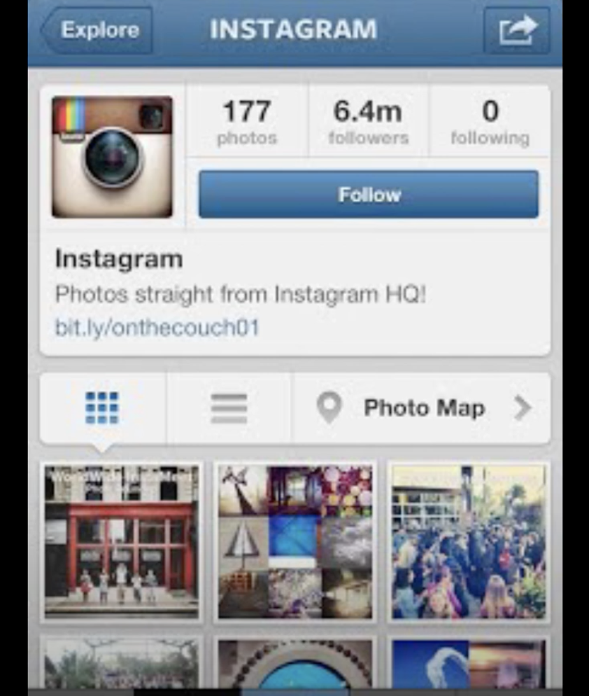 The 2010 Instagram interface
