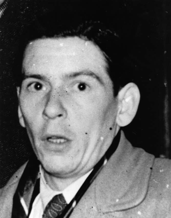 Timothy Evans with a look of shock and terror on his face