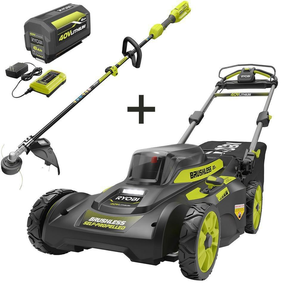 The lawn mower and trimmer