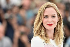 """Emily Blunt attends a photocall for """"Sicario"""" during the 68th annual Cannes Film Festival"""