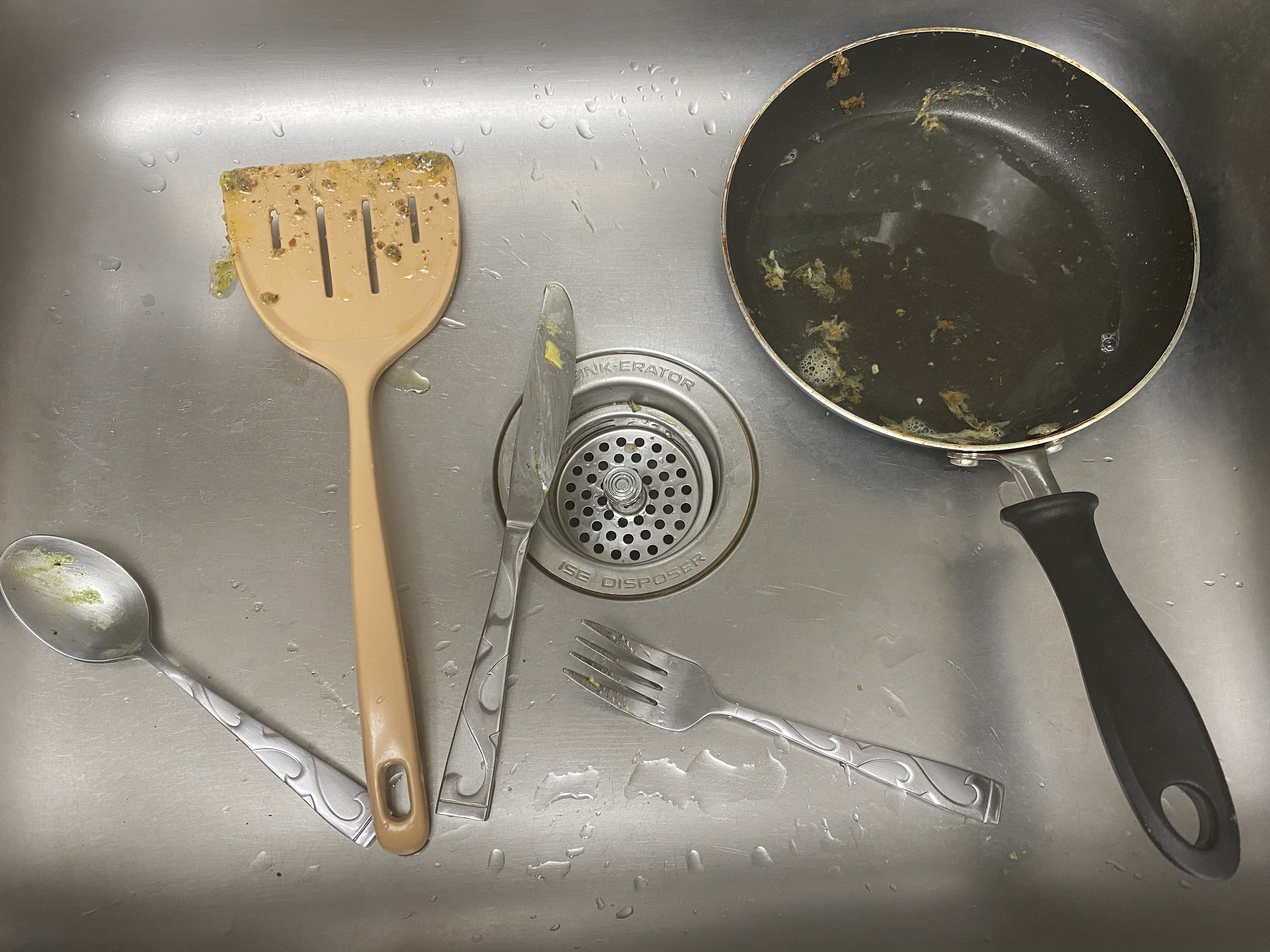 Dishes in the sick
