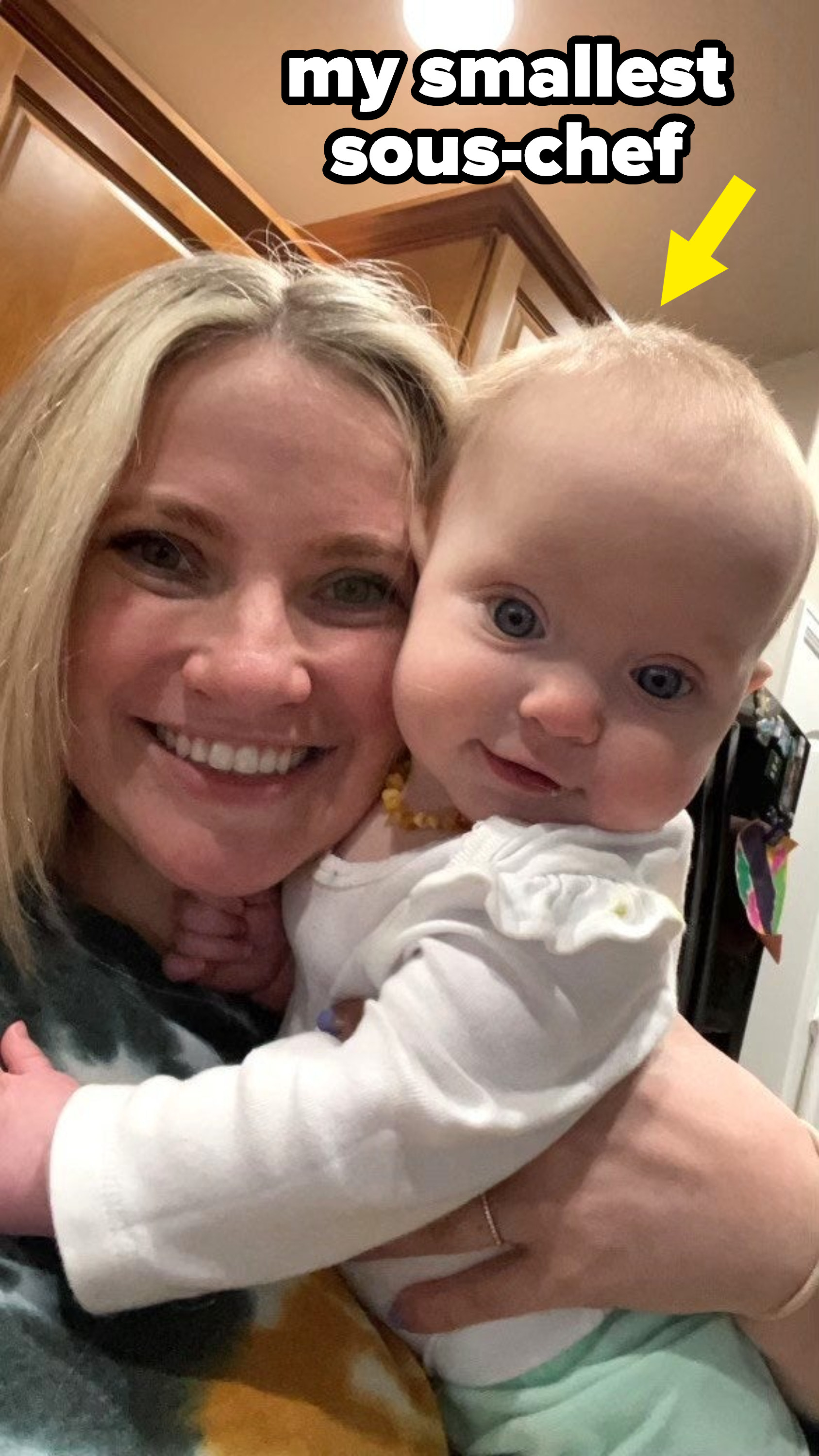 The author and her baby daughter