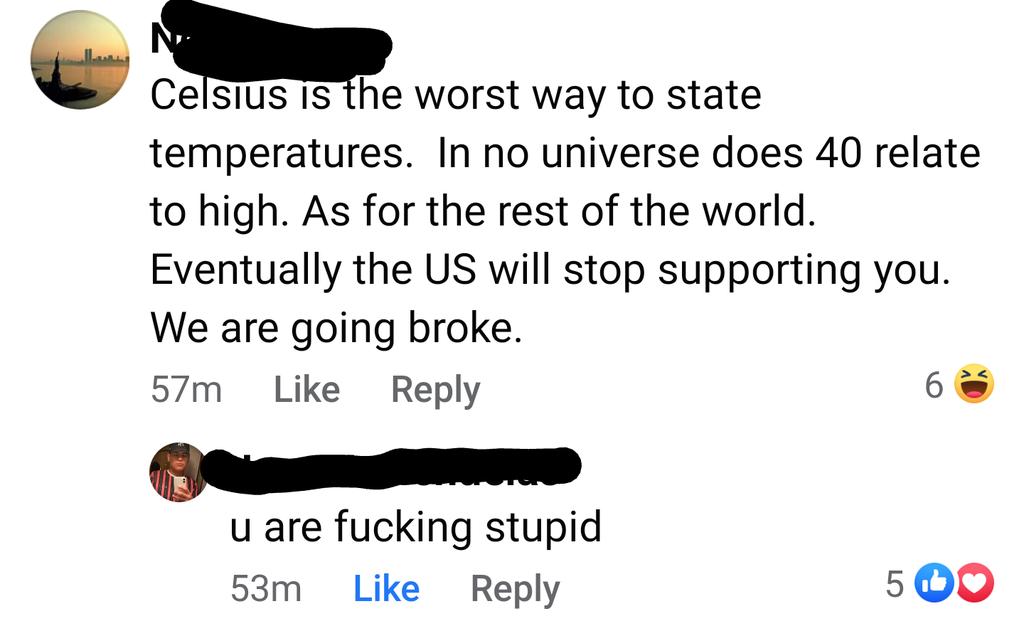 person arguing against celsius