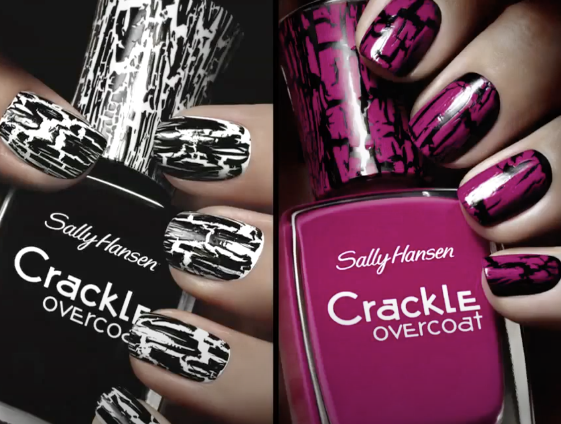 The Sally Hansen Crackle overcoat produced a cracked look in people's nail polish