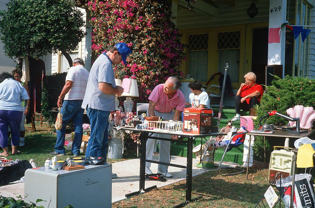 A yard sale in california