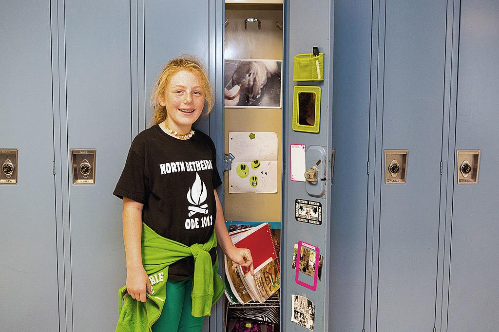 A decorated school locker