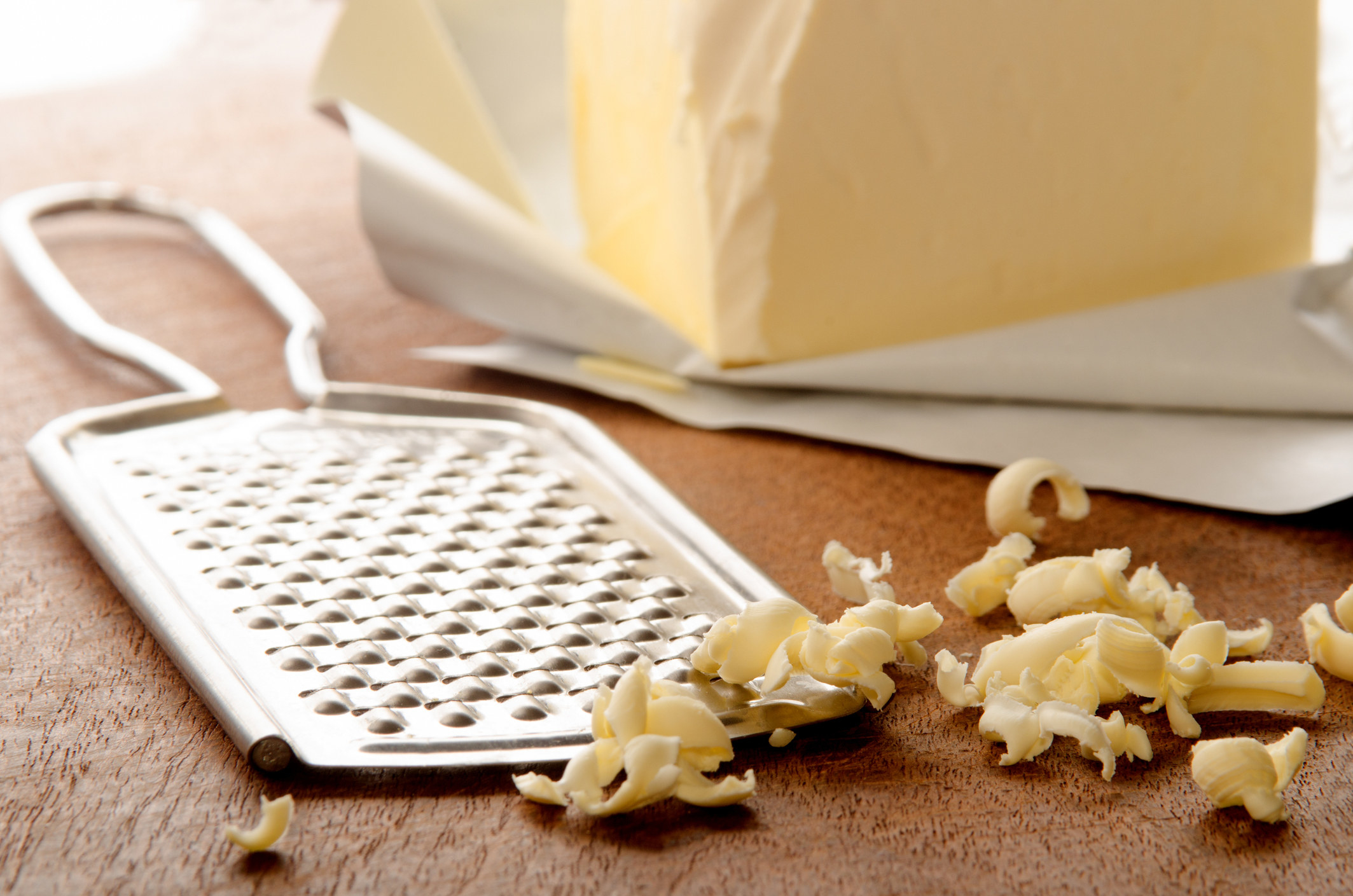 Grated butter