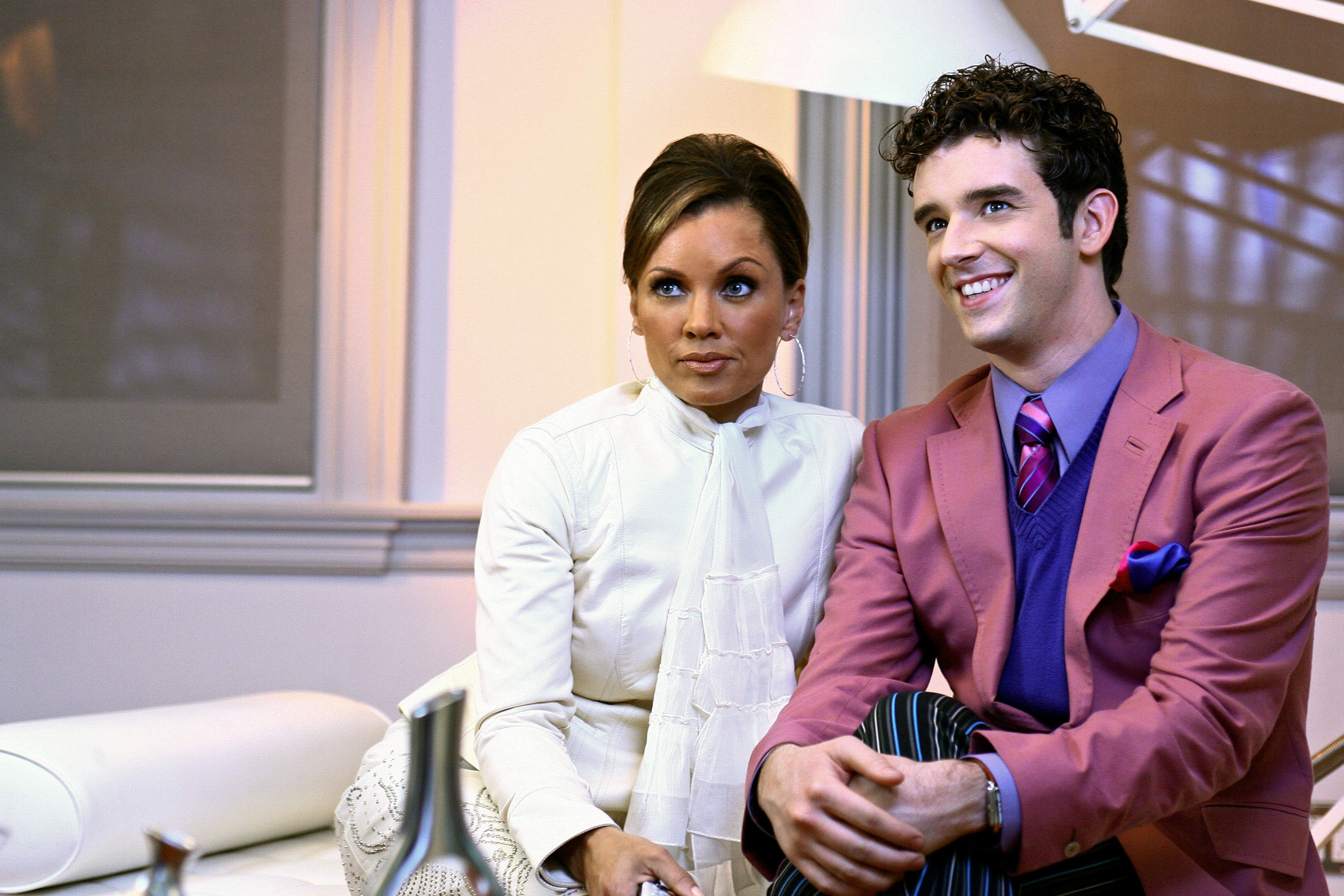 Vanessa Williams and Michael Urie scheme together