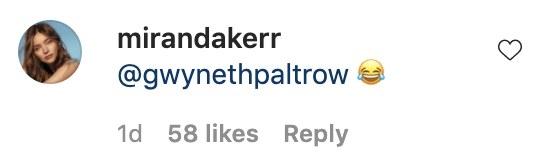 A screenshot of Miranda post the laughing emoji