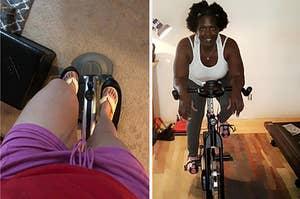 (左)便携式椭圆形(右)固定自行车