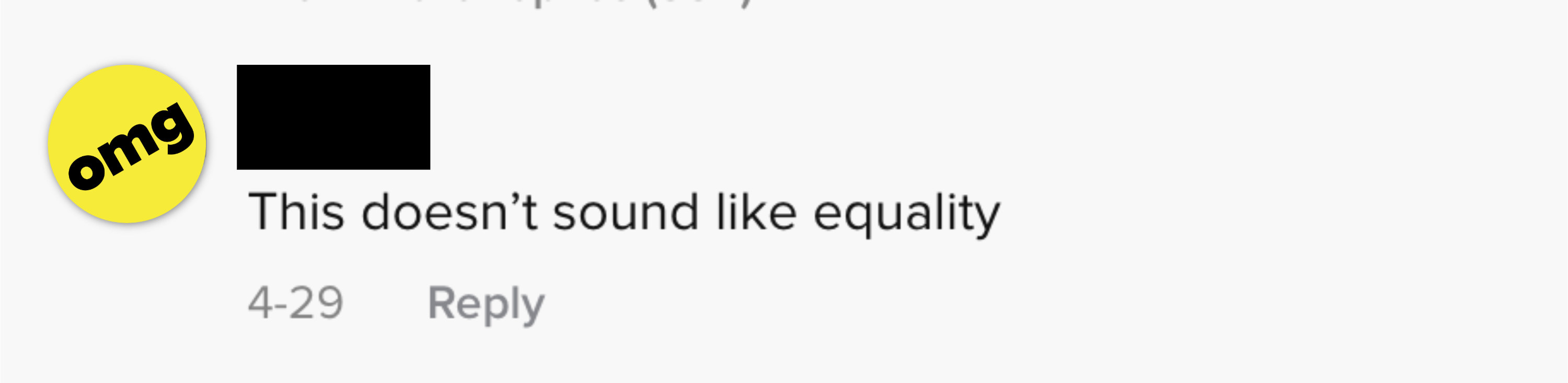 This doesn't sound like equality
