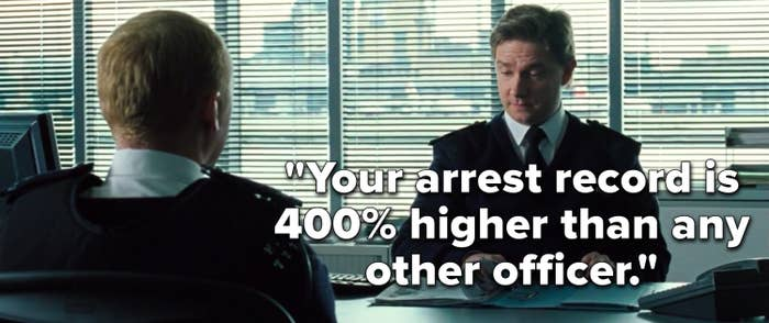 """The Met Sergeant says, """"Your arrest record is 400% higher than any other officer"""""""