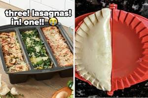 lasagna pan and dough press