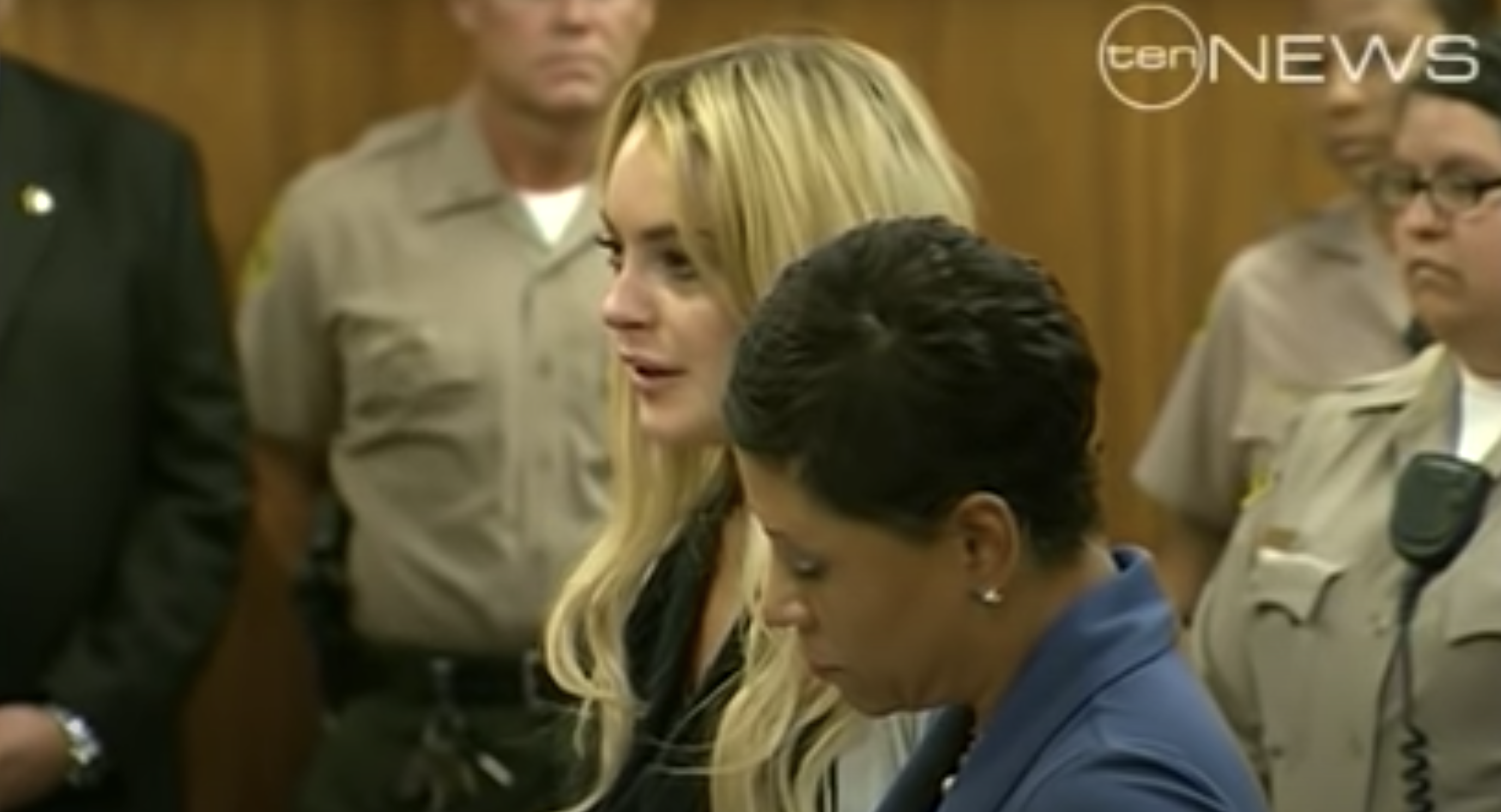 Lindsay Lohan at her court hearing