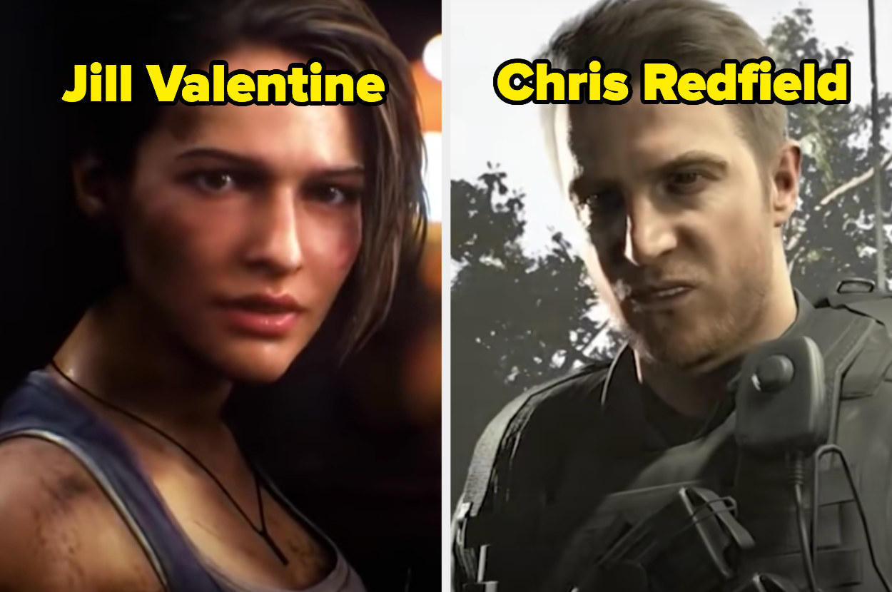 Jill Valentine and Chris Redfield characters