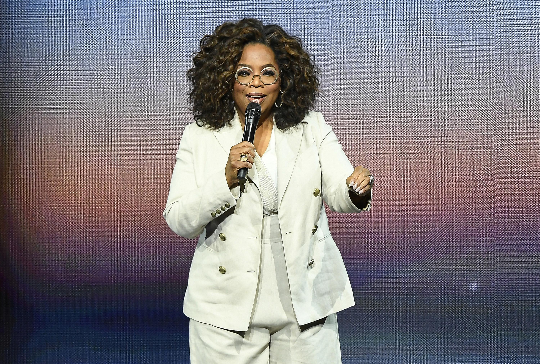 Oprah speaking on stage