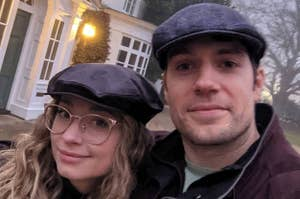 Henry Cavil and his girlfriend, Natalie